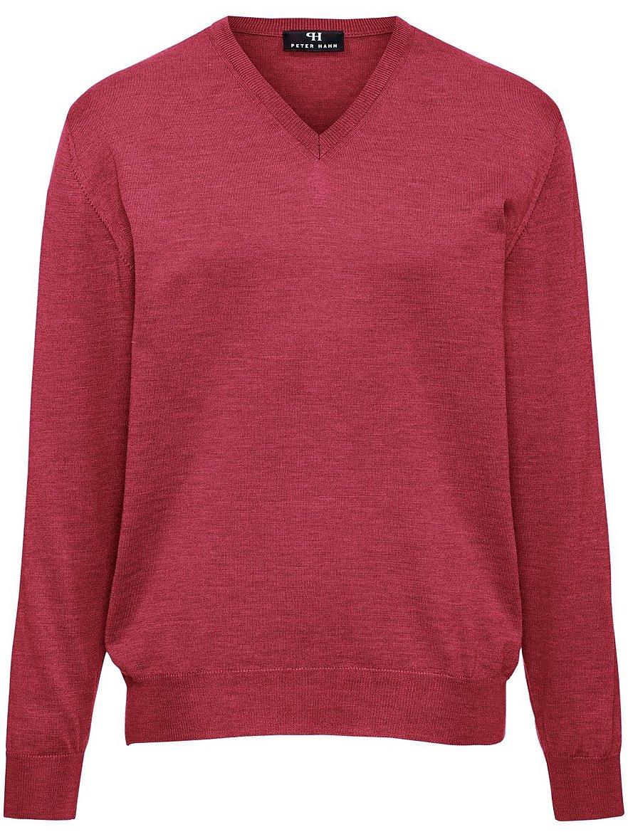 V-Pullover aus 100% Schurwolle-Merino extrafein Peter Hahn blau Größe: 58 | Bekleidung > Pullover > V-Pullover | Peter Hahn