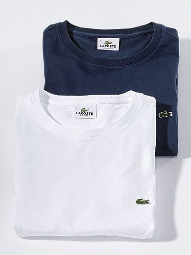 Lacoste - Round neck top with short sleeves