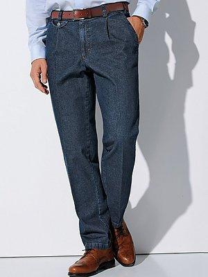 Bandplooi-jeans Van Eurex by Brax blauw