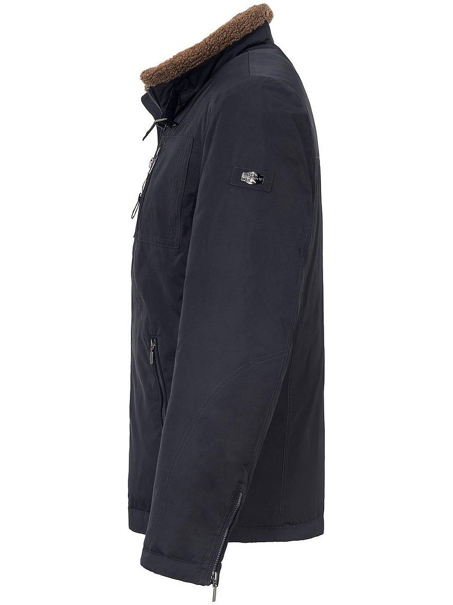 Jacke mit abnehmbarem Webpelz Kragen
