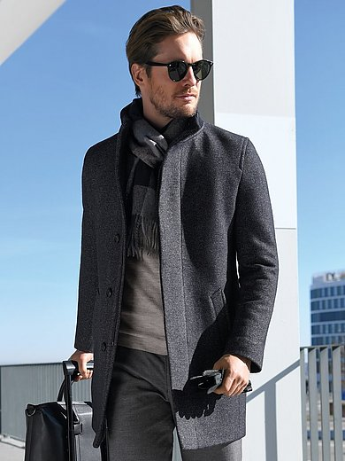 Bugatti - Coat with a variable collar