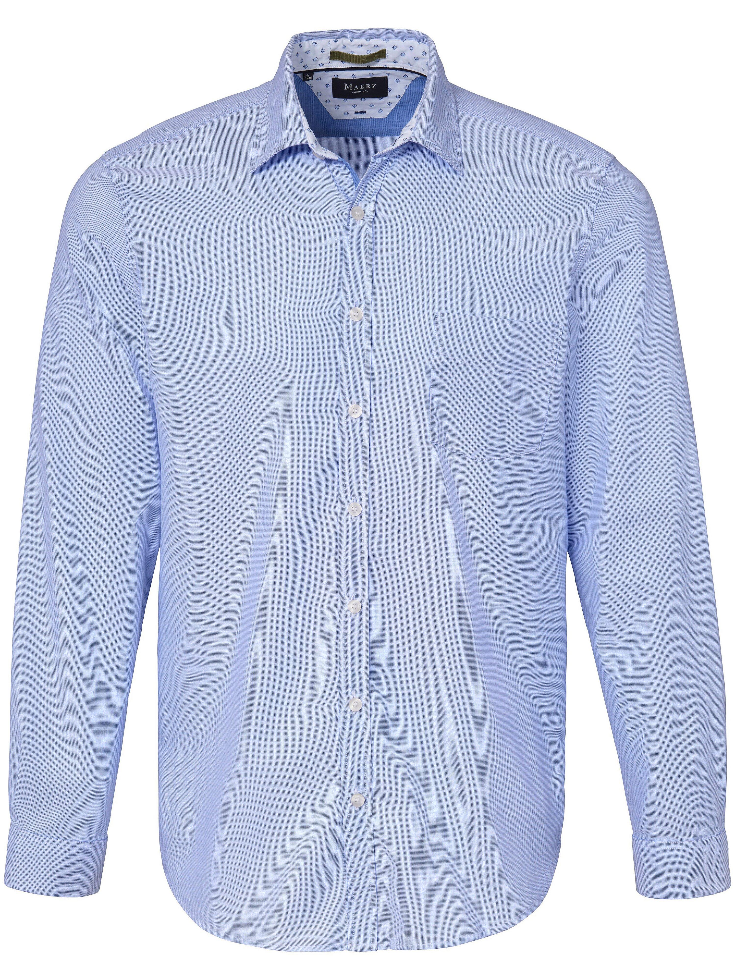 La chemise 100% coton coupe tendance  MAERZ Muenchen bleu taille 45/46