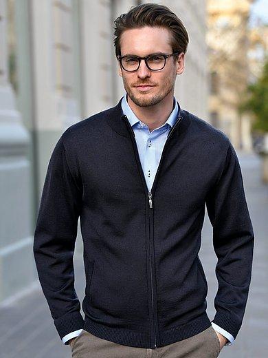 Peter Hahn - Vest van 100% scheerwol met staande kraag