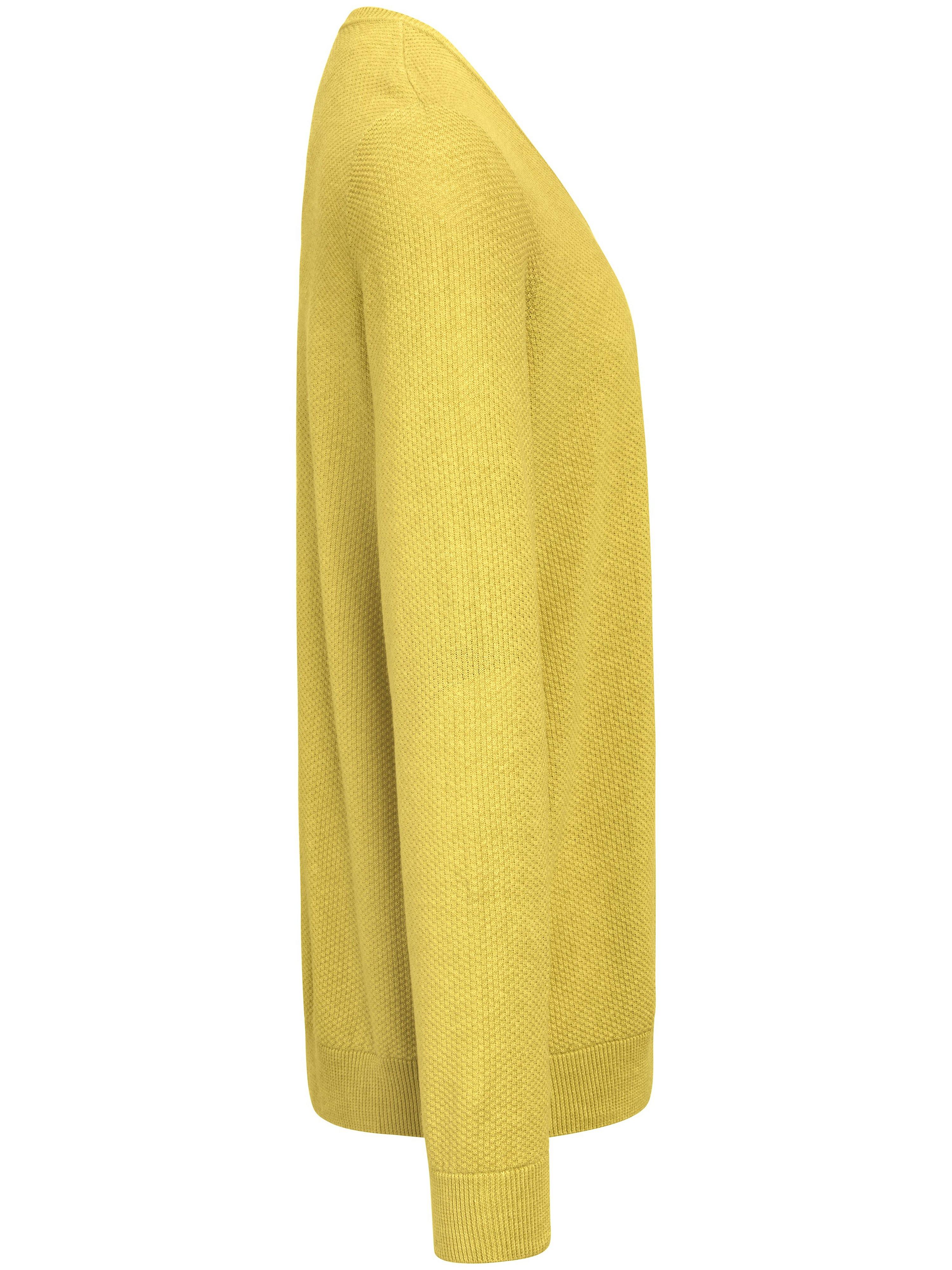 Strikbluse V-udskæring Fra Louis Sayn gul