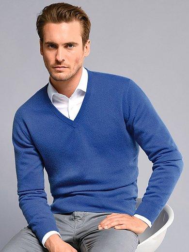 Peter Hahn Cashmere - V-neck jumper made of 100% premium cashmere