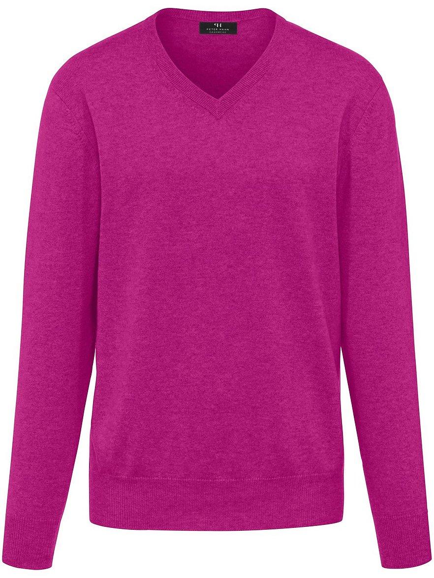 V-Pullover aus 100% Premium-Kaschmir Peter Hahn Cashmere pink Größe: 58 | Bekleidung > Pullover > V-Pullover | Peter Hahn Cashmere