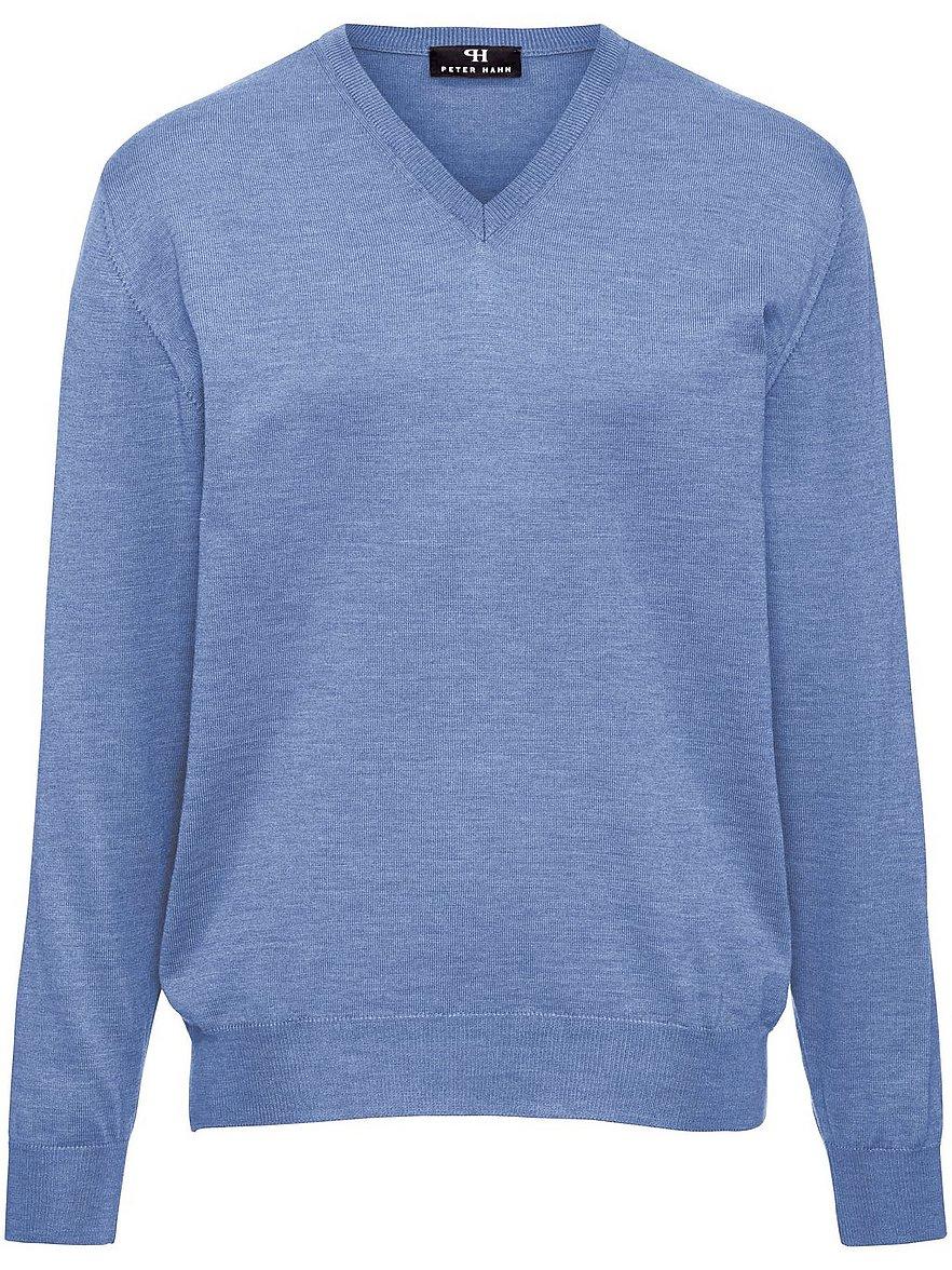 V-Pullover aus 100% Schurwolle-Merino extrafein Peter Hahn blau Größe: 54 | Bekleidung > Pullover > V-Pullover | Peter Hahn
