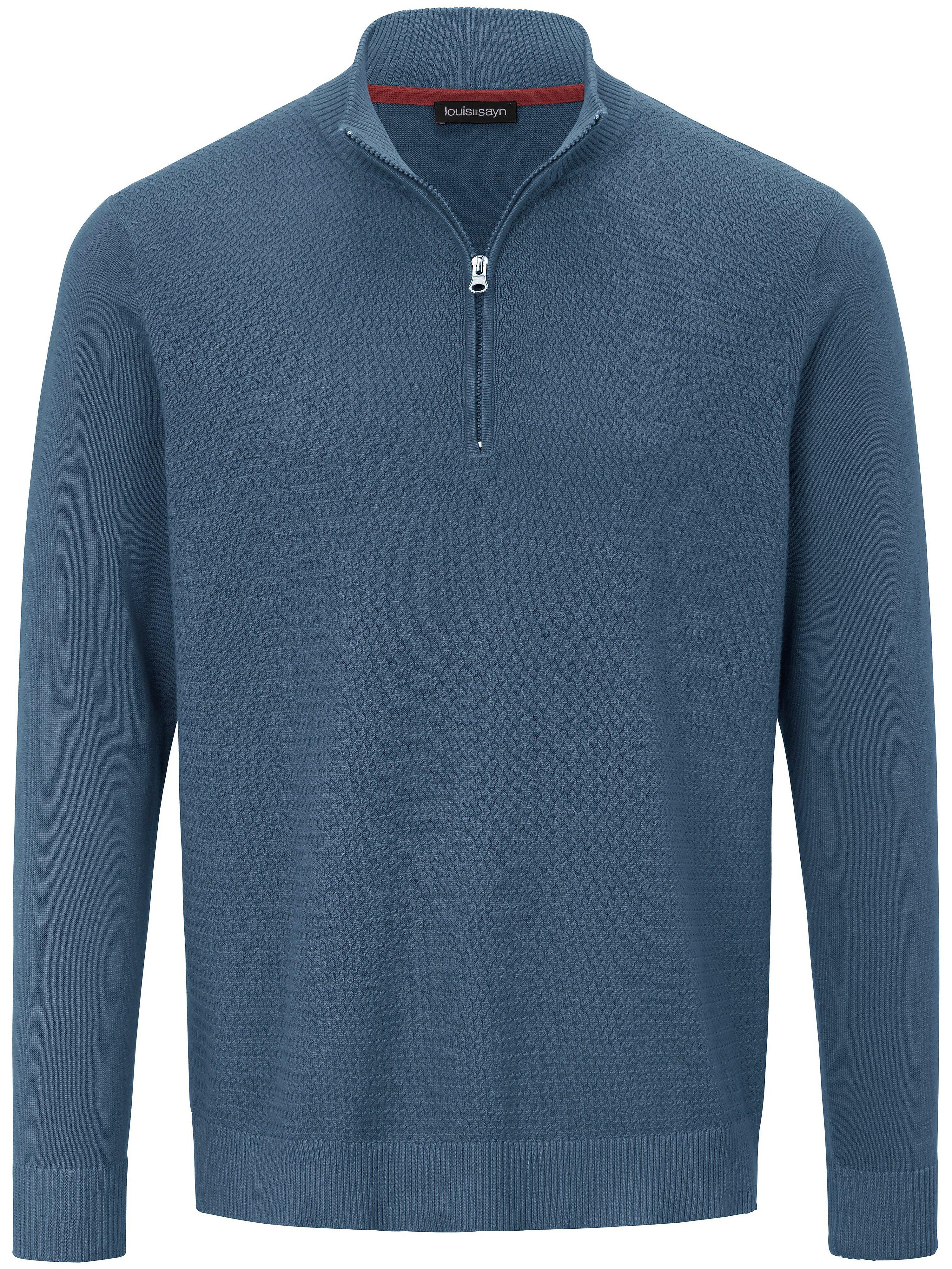 Le pull 100% coton  Louis Sayn bleu