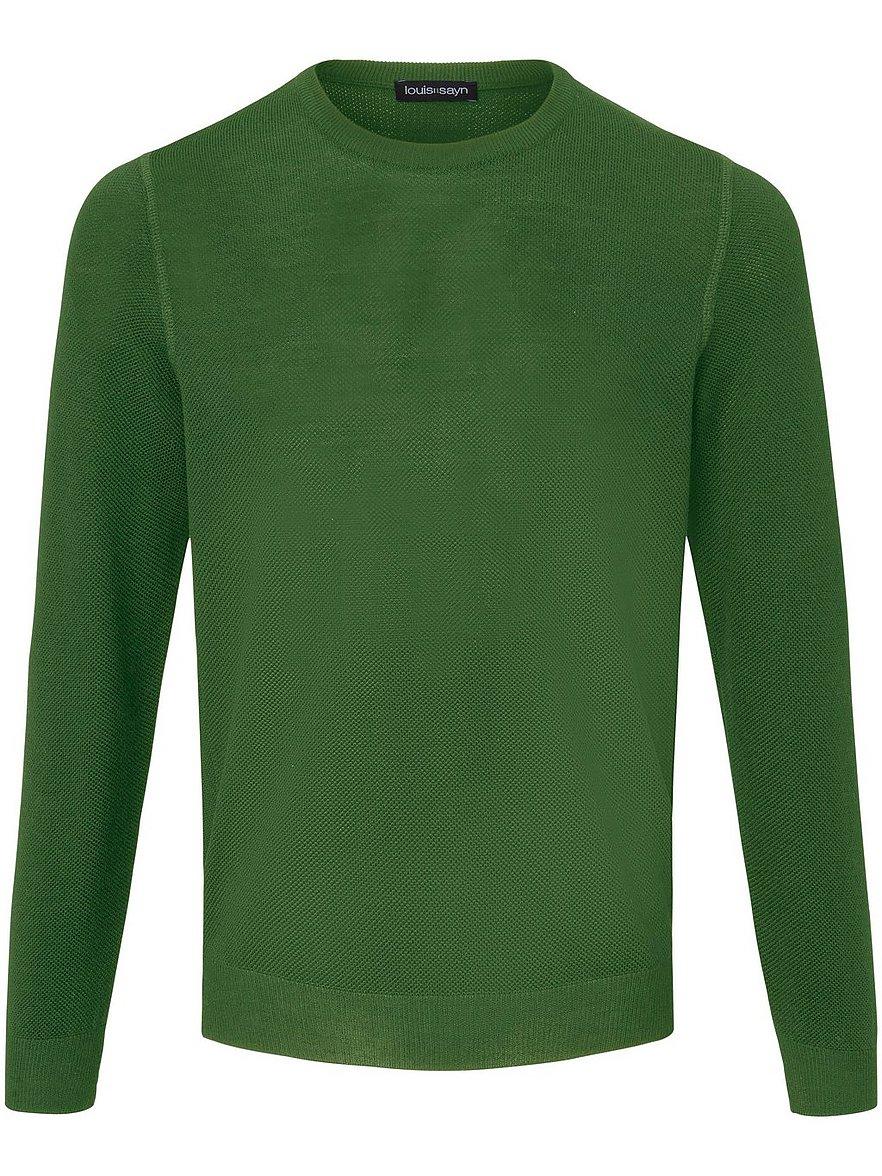 louis sayn - Rundhals-Pullover aus 100% Schurwolle  grün Größe: 46