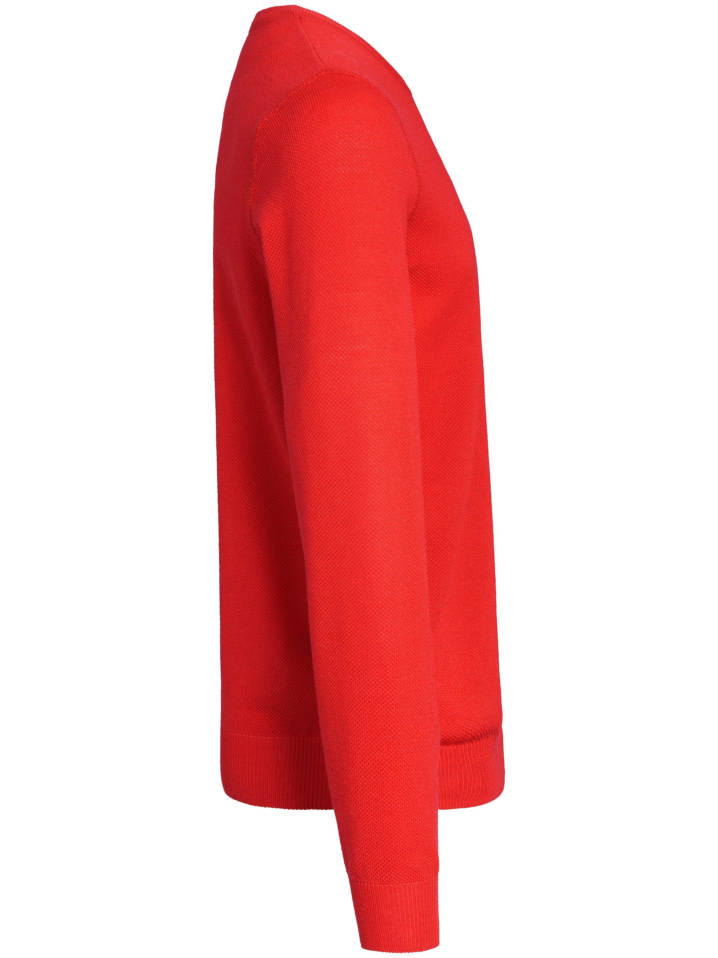 Strikbluse i 100% ren ny uld Fra Louis Sayn rød