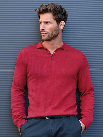 Peter Hahn - Polo-Pullover aus 100% Pima-Baumwolle
