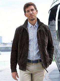 Peter Hahn Herren Nachtblau Lederjacke aus 100% Leder im