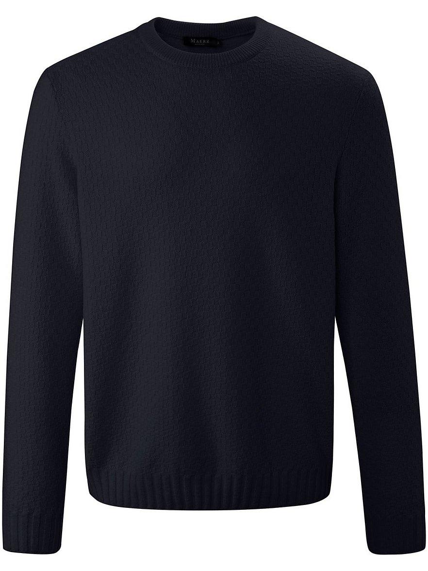 maerz muenchen - Rundhals-Pullover  blau Größe: 54