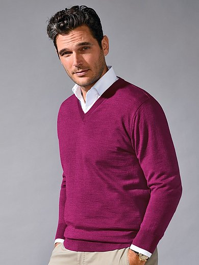 Peter Hahn - Le pull col V 100% laine vierge