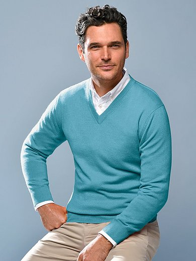 Peter Hahn Cashmere - Le pull col V 100% cachemire