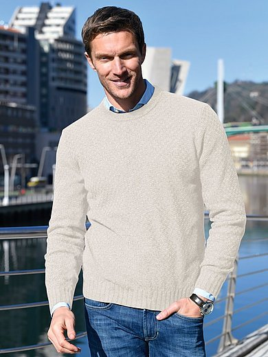 MAERZ Muenchen - Round neck jumper with knitted texture