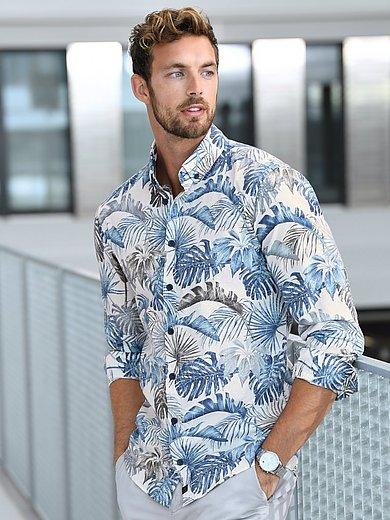 Strellson - Overhemd Slim Fit van 100% katoen met bladerdessin