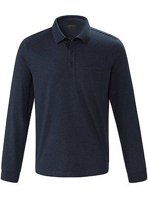 4 Poloshirt van 100% katoen met lange mouwen Van Pierre Cardin blauw