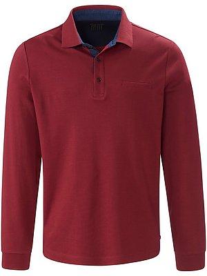 4 Poloshirt van 100% katoen met lange mouwen Van Pierre Cardin rood