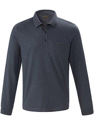 4 Poloshirt van 100% katoen met lange mouwen Van Pierre Cardin grijs