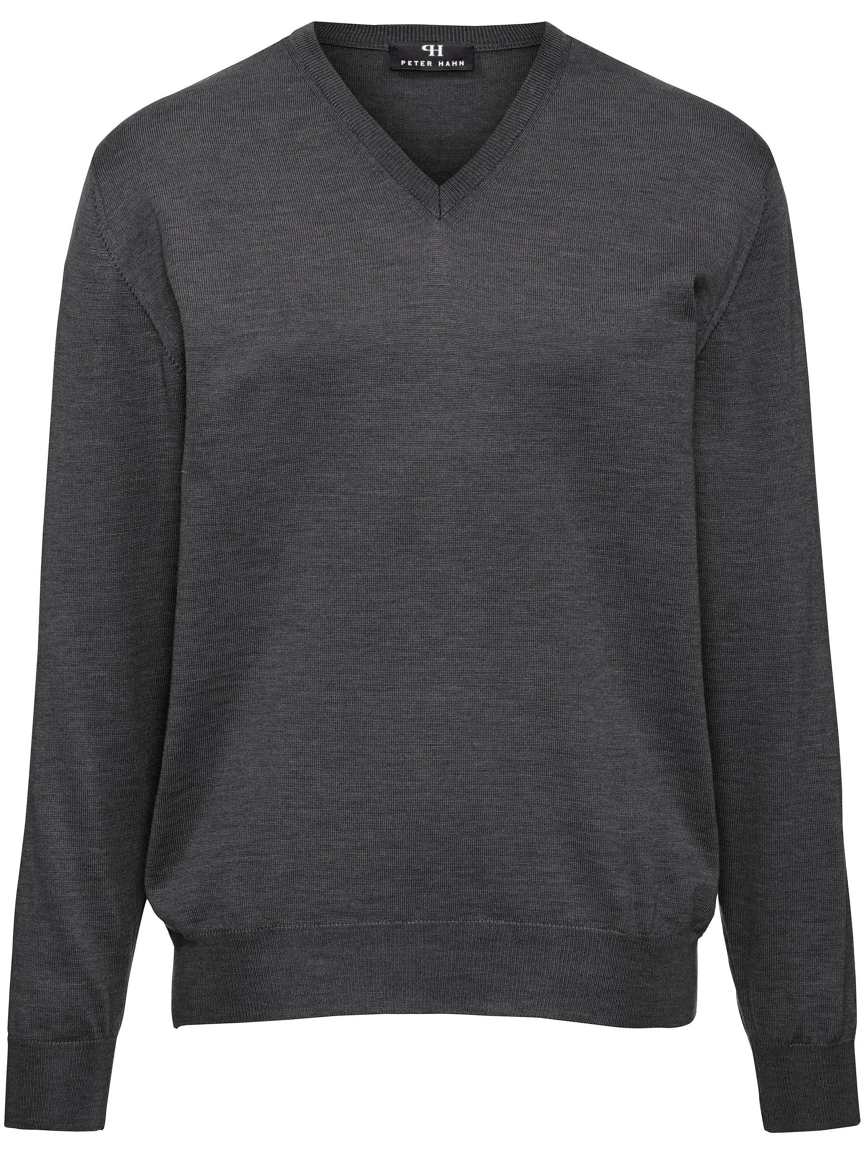 V-Pullover aus 100% Schurwolle-Merino extrafein Peter Hahn grau | Bekleidung > Pullover > V-Pullover | Peter Hahn