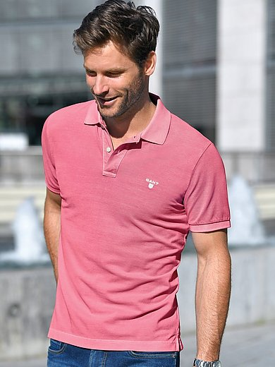 GANT - Polo shirt with slightly bleached effects