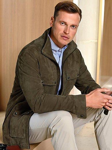 Louis Sayn - La veste en cuir velours de chèvre