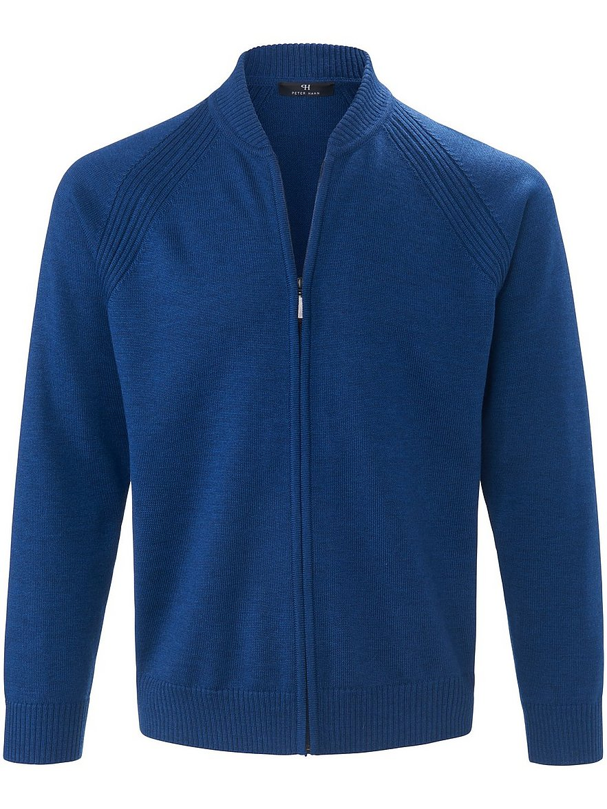 peter hahn - Strickjacke Stehkragen  blau Größe: 50