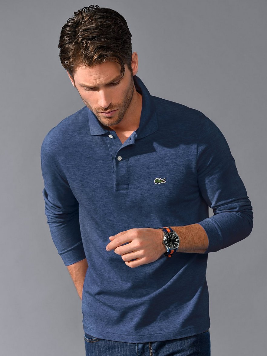 lacoste - Polo-Shirt 1/1-Arm  blau Größe: 50