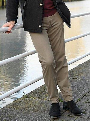 Broek model Fabio met franse zakken Van Brax Feel Good beige