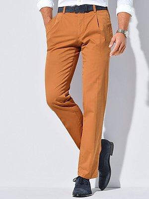 Bandplooibroek model Luis met achterzakken Van Eurex by Brax oranje