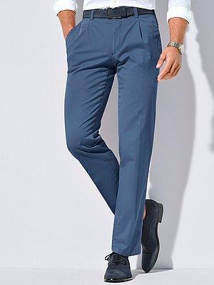 Bandplooibroek model Luis met achterzakken Van Eurex by Brax blauw