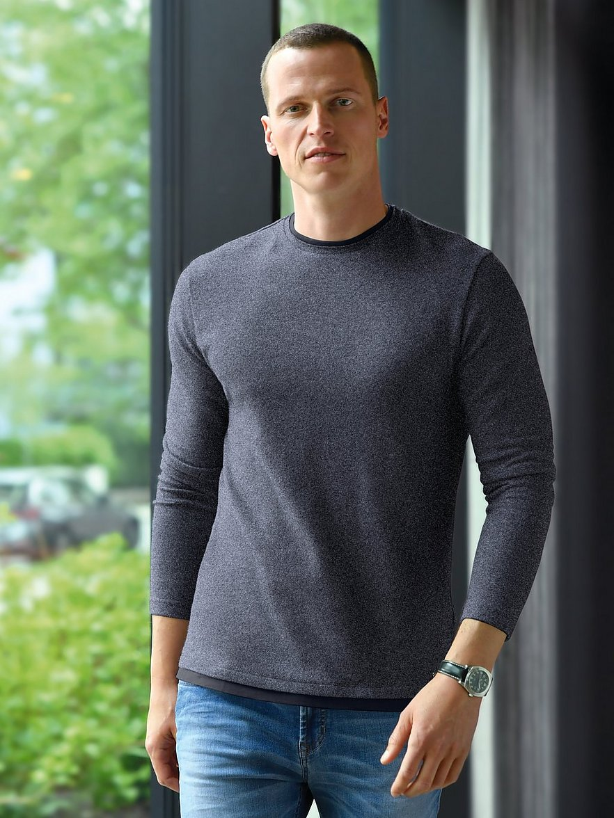 strellson - Rundhals-Pullover  blau Größe: 50