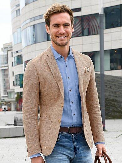 Olymp - Overhemd van 100% linnen met kentkraag