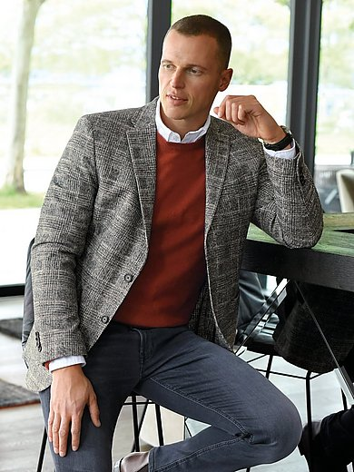 Pierre Cardin - Sports jacket with cutting-edge check pattern
