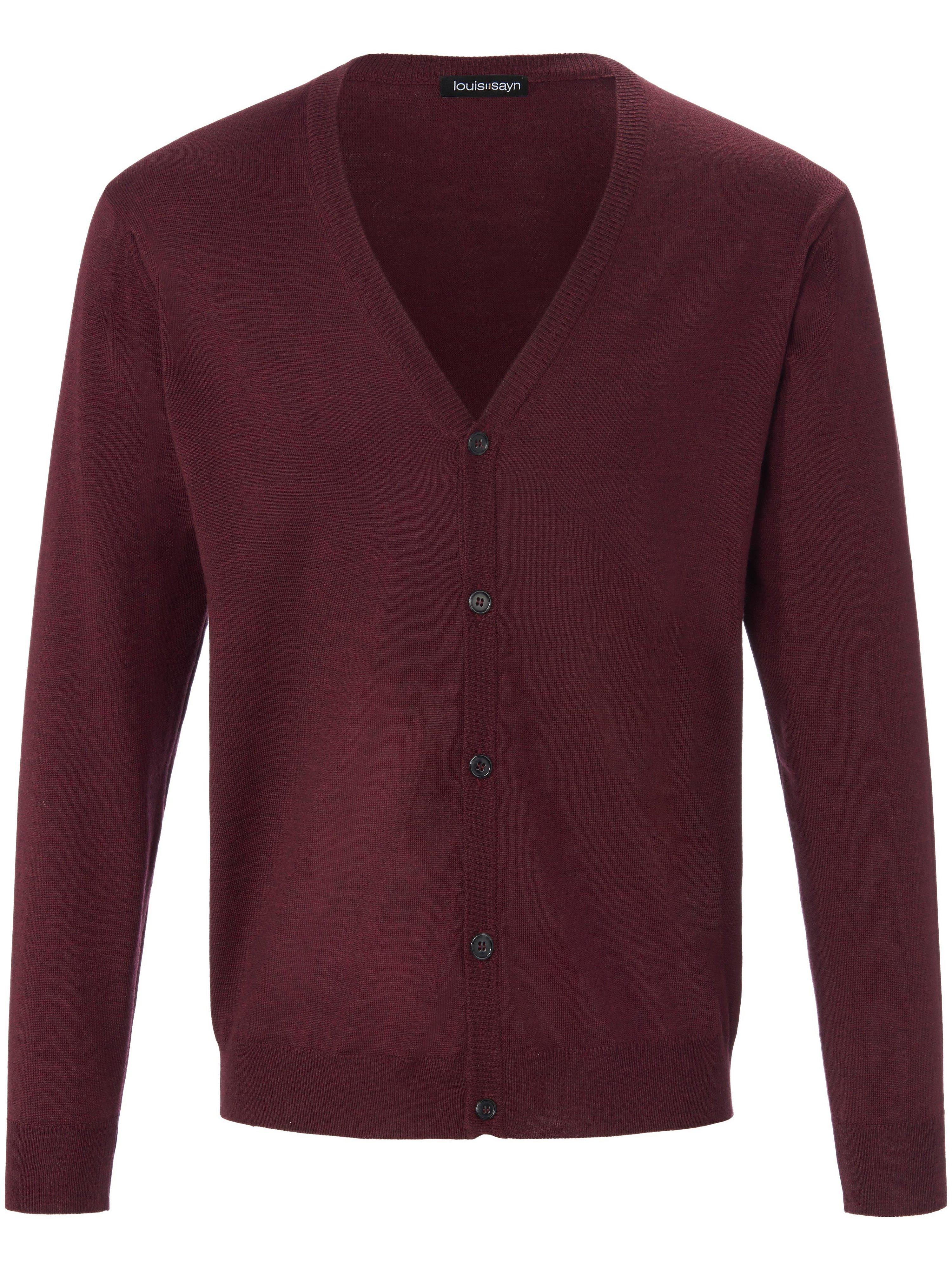 Vest 100% scheerwol Van Louis Sayn rood