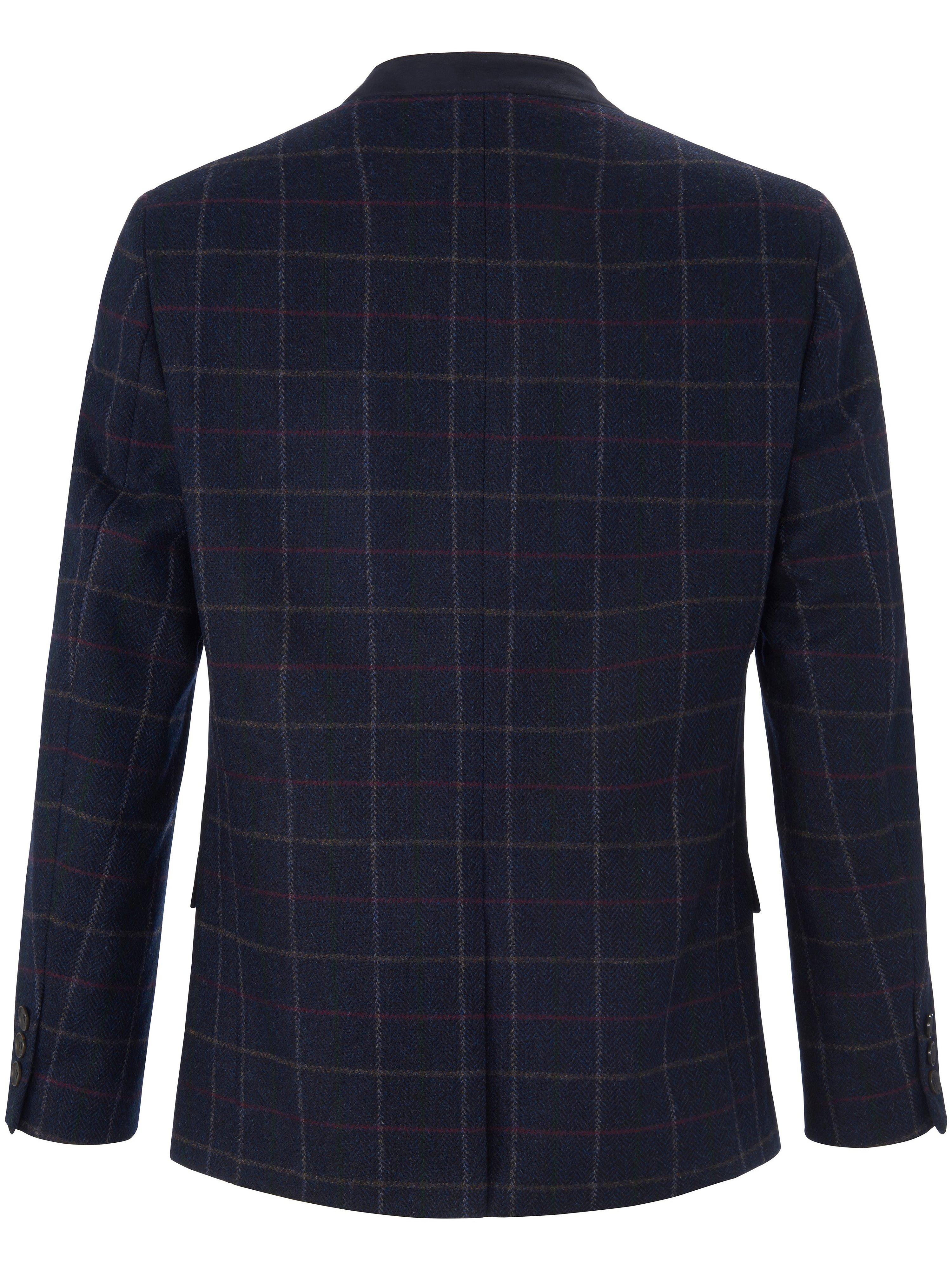Folklorejakke i 100% ren ny uld Fra Steinbock blå