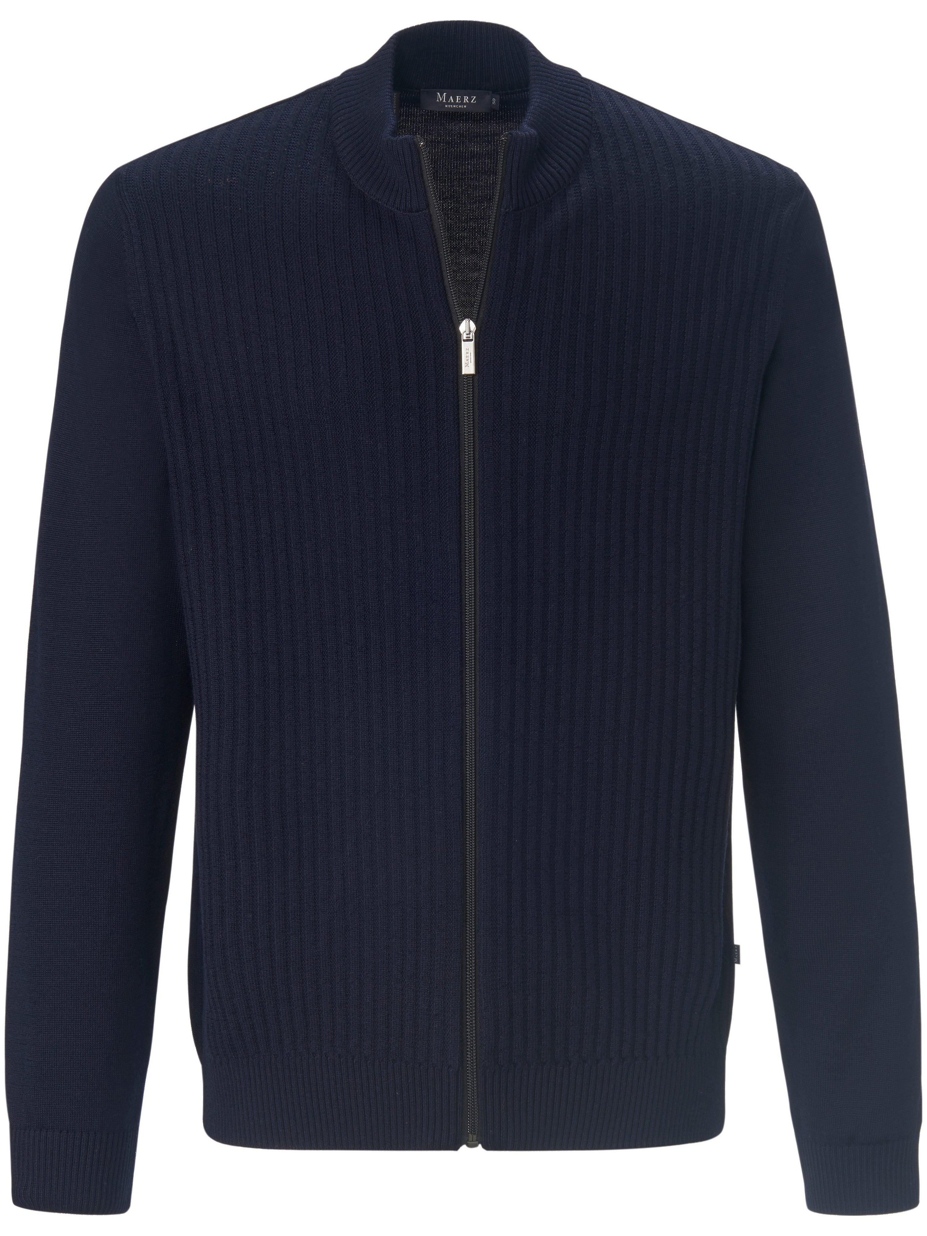 Vest 100% scheerwol Van MAERZ Muenchen blauw