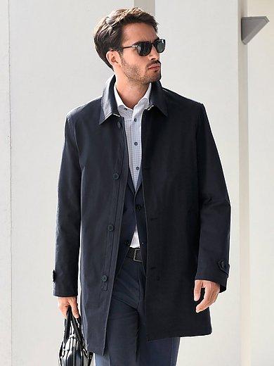 Bugatti - Lange jas met sliponkraag en steekzakken