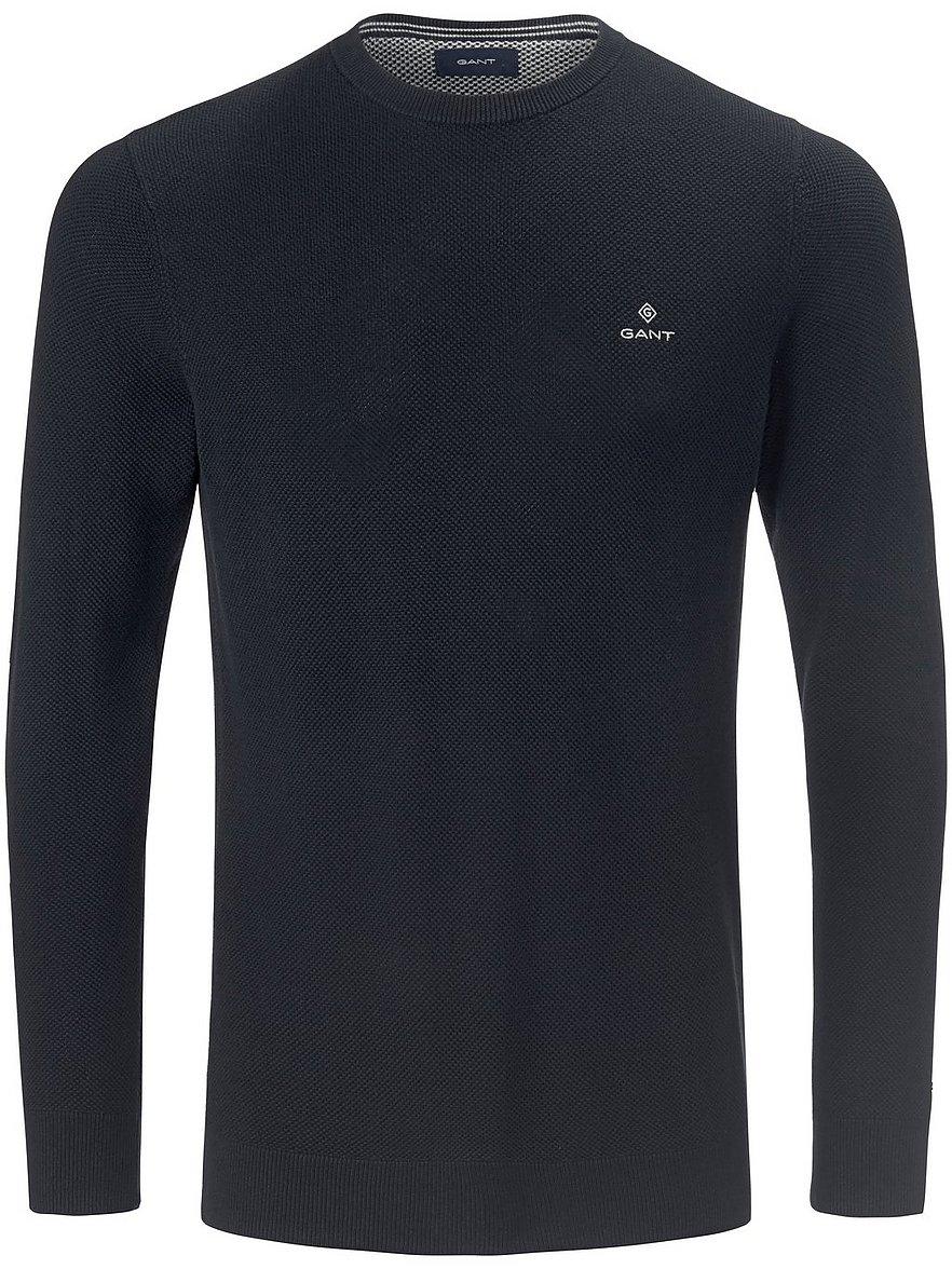 gant - Rundhals-Pullover  blau Größe: 50