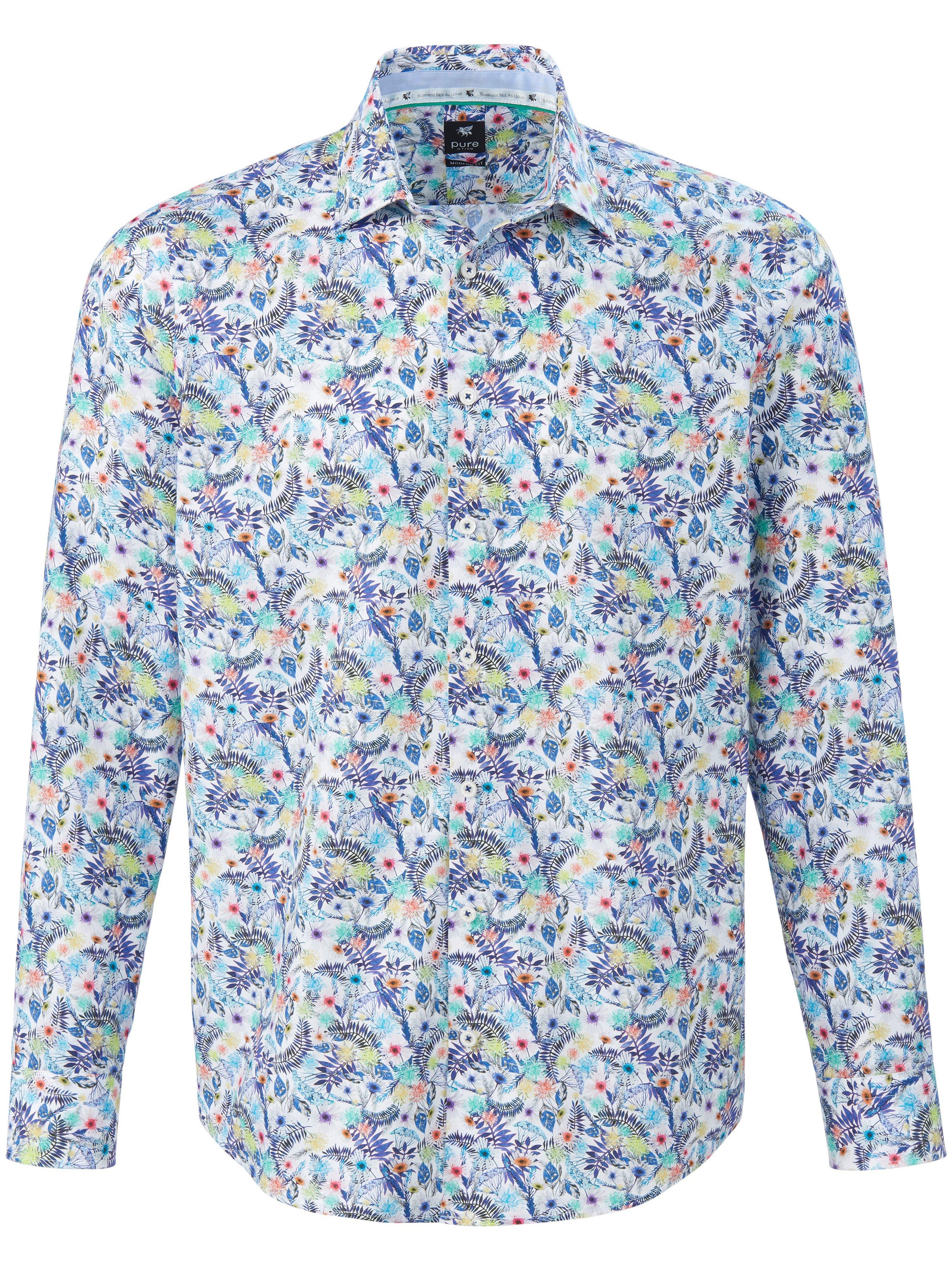 Overhemd 100% katoen Van Pure multicolour