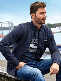 Lacoste - La veste en molleton, col montant zippé
