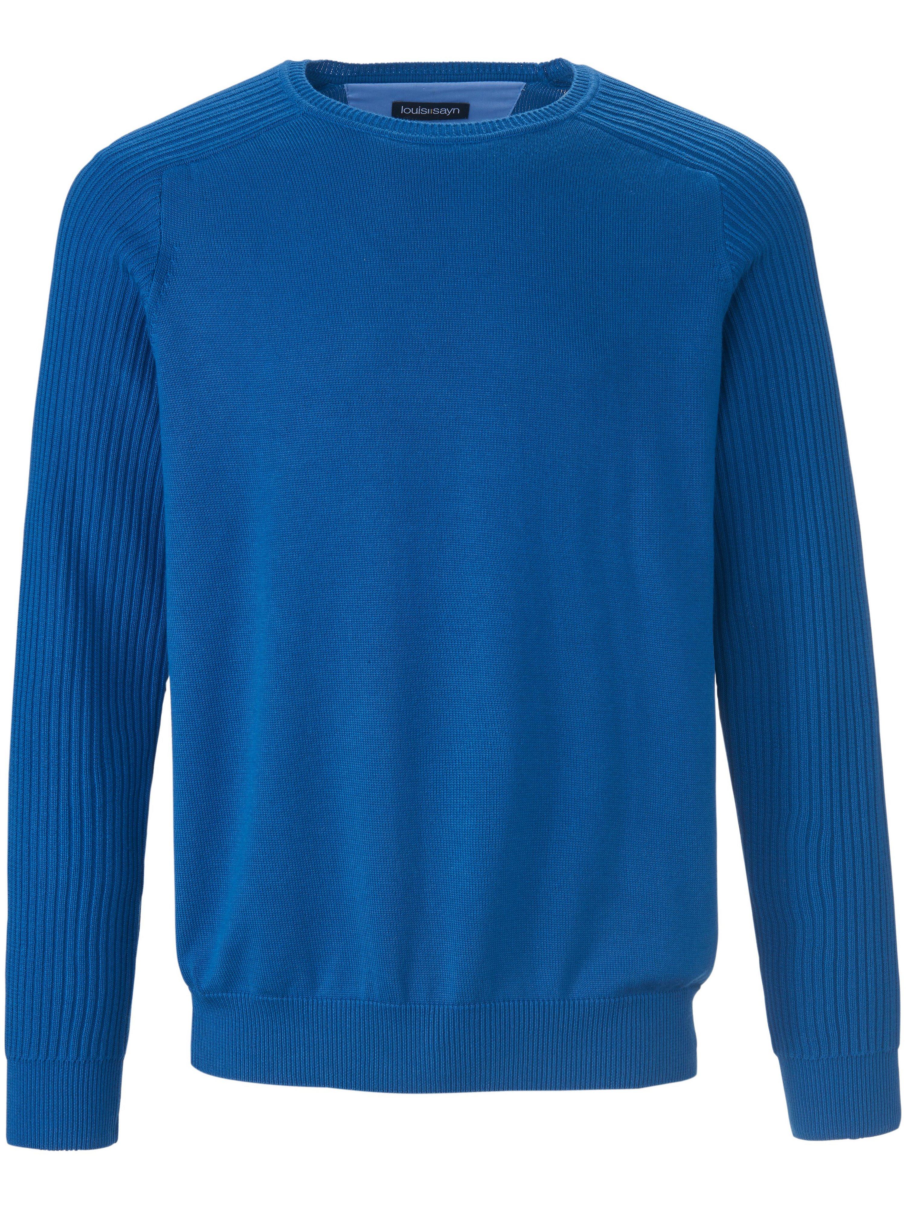 Le pull 100% coton  Louis Sayn bleu taille 50