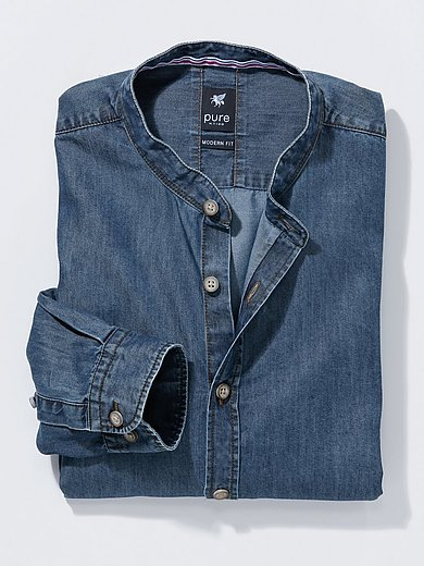 Pure - La chemise en jean avec col montant