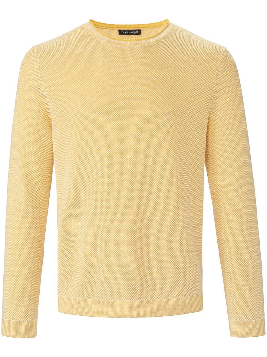 louis sayn - Rundhals-Pullover  gelb Größe: 54