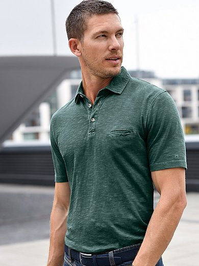 Olymp - Polo shirt in a trendy washed look