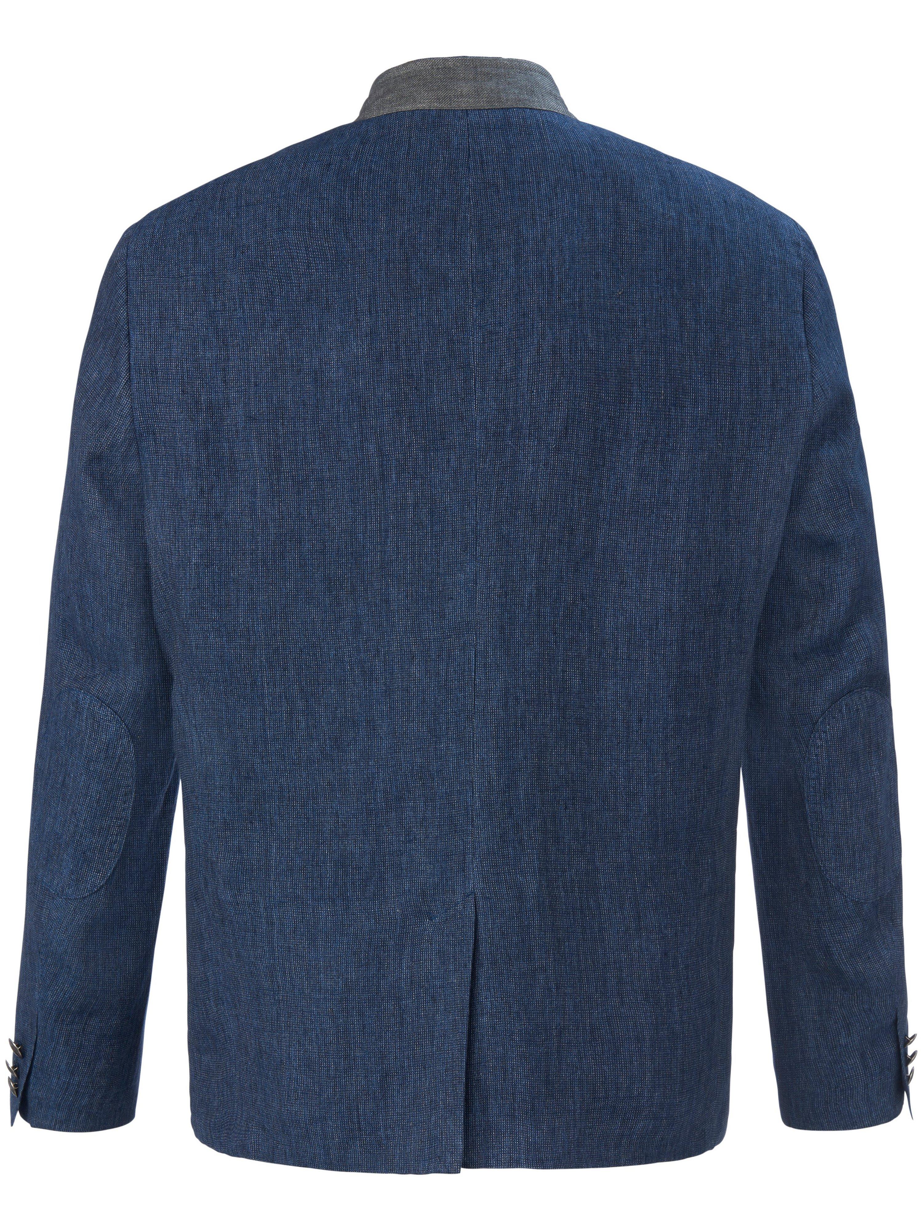 Traditionel jakke i 100% hør Fra Lodenfrey blå