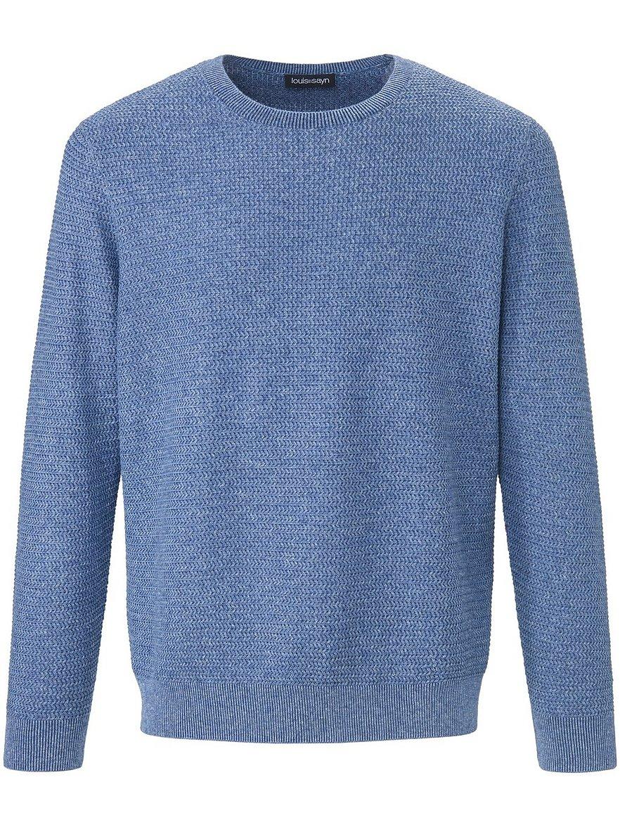 louis sayn - Rundhals-Pullover  blau Größe: 56