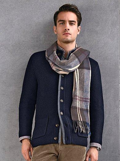 Louis Sayn - Vest van 100% scheerwol met opstaande kraag