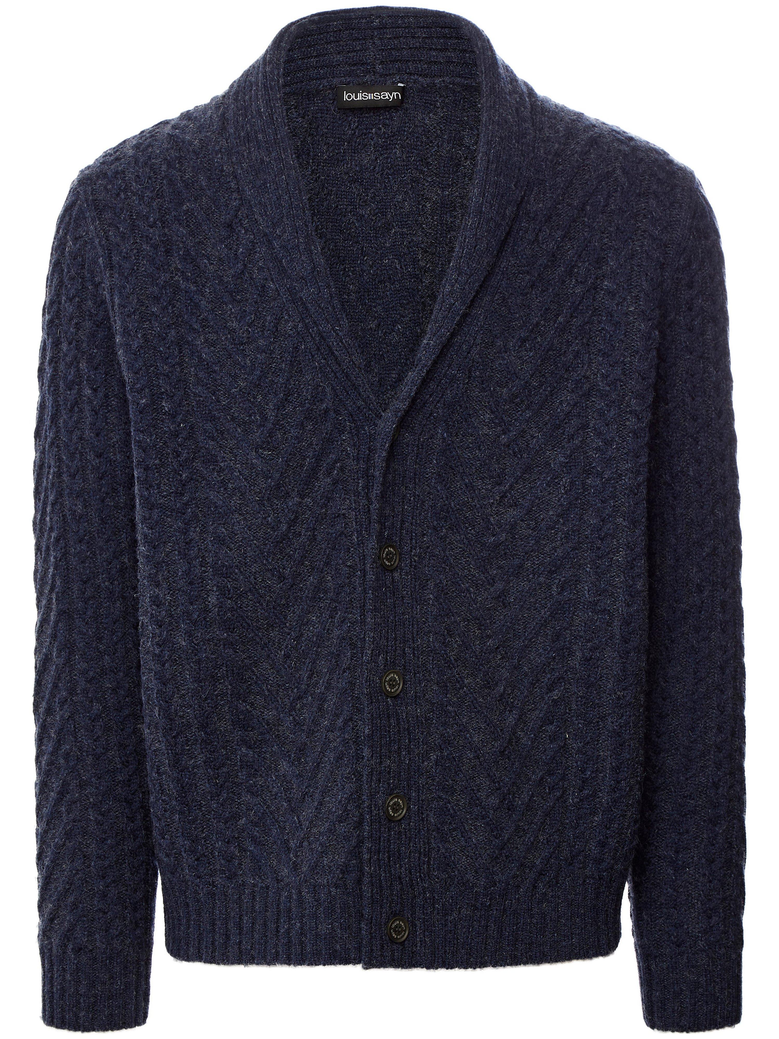 Vest 100% scheerwol Van Louis Sayn blauw